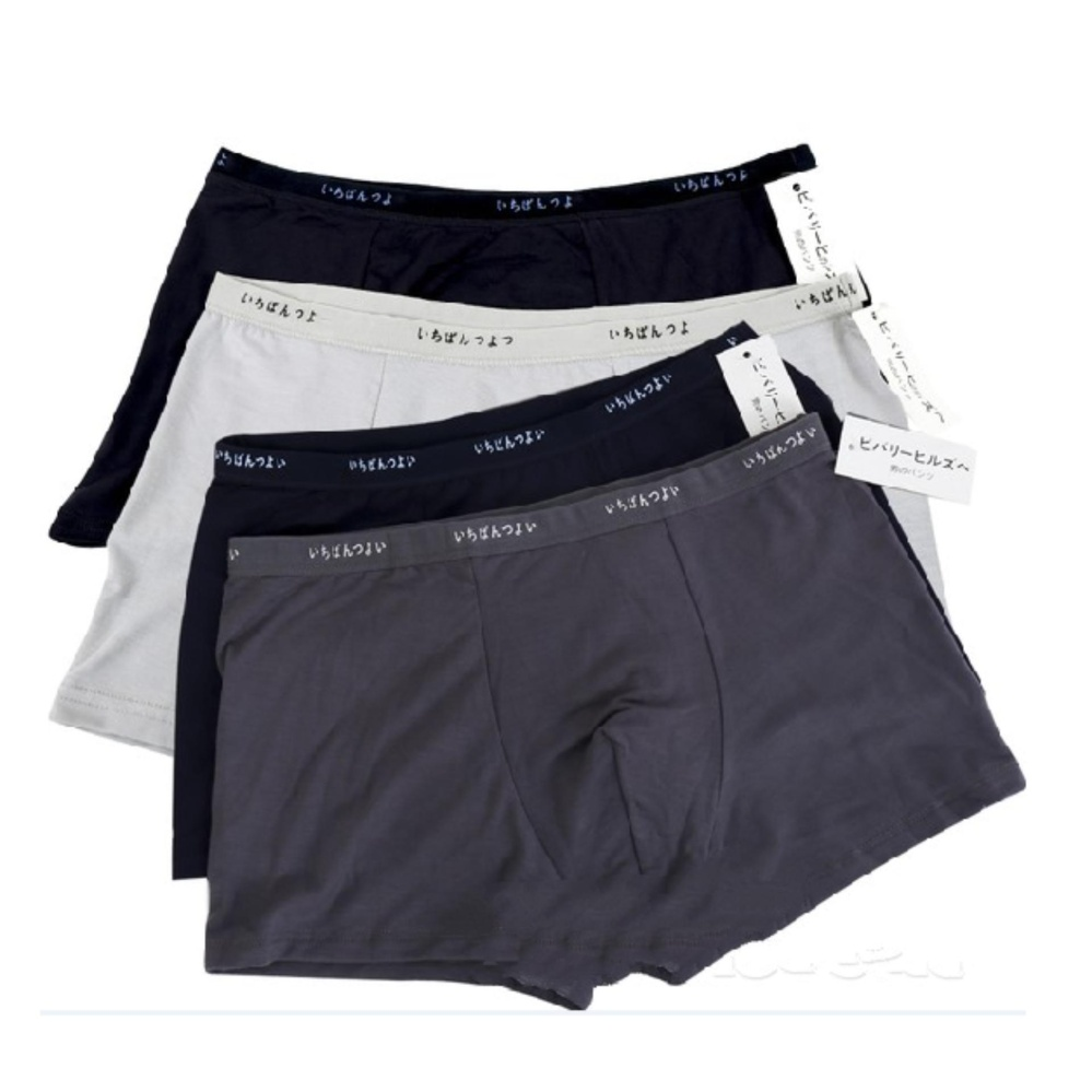 3 PAIRS MEN  CLASSIC SPORTS UNDERWEAR TRUNK BRIEF  WITH EMBROIDERED DESIGN